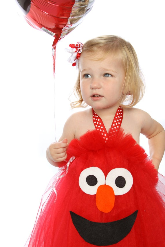 Elmo Inspired  Tutu Dress  for Birthdays, Halloween, Parades, Dances, Dress Up