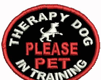 Service Dog Patch Therapy Dog in Training Patch Service Dog Patches Assistance Dog Support