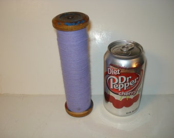 Vintage Colorful Industrial Spindle with Lavender Thread