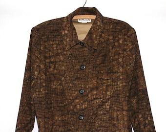 90s Reptilian Print Vintage Shirt Jacket