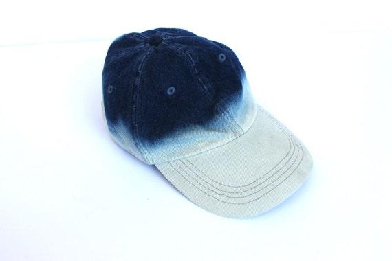 Vintage 90s Denim and Bleach Billed Adjustable Cap