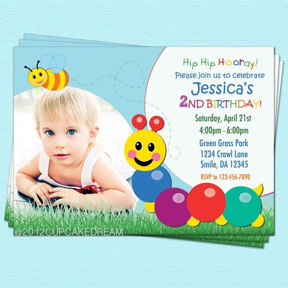 Baby Einstein Invitation Caterpillar Birthday Party