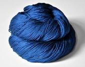 Ground sapphire - Silk Fingering Yarn - knotty skein