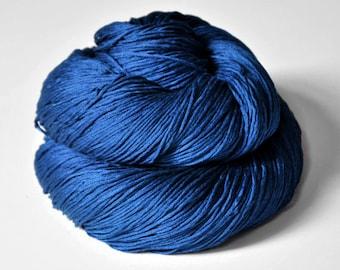 Ground sapphire - Silk Fingering Yarn