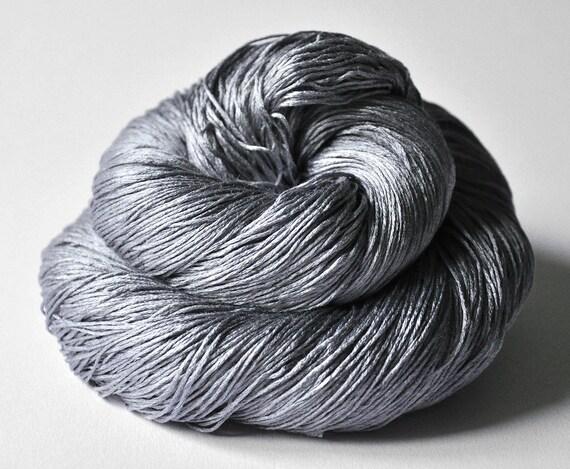 Steel OOAK - Silk Yarn Lace weight