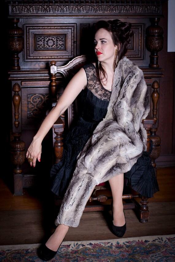 R e s e r v e d // Vintage CHINCHILLA Stole from the Venerable SIBERIAN Fur Store