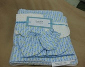 Baby Boy Flannel Blanket Gift Set - Little Stars and Moon