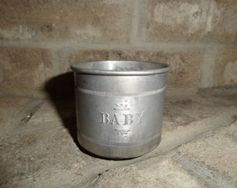 Antique Vintage Baby Aluminum Training Keepsake  Cup Sale Take 10% OFF