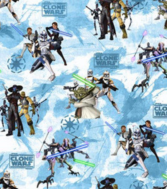 Star Wars Cotton Fabric Clone Wars Characters by ...