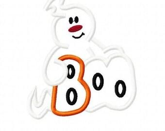 Ghost Digital Embroidery Machine Applique Design 10702