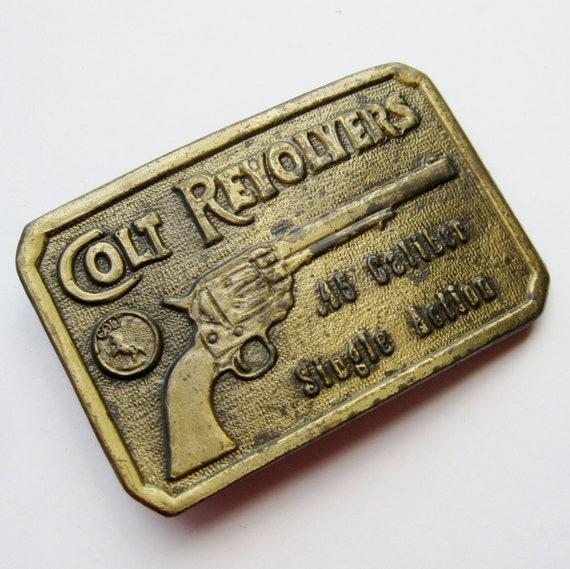 Vintage Colt Revolver 45 Caliber Single Action Gun Belt Buckle
