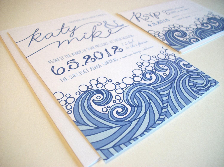 Etsy Beach Wedding Invitations: Diy Printable Ocean Beach Nautical Wedding By