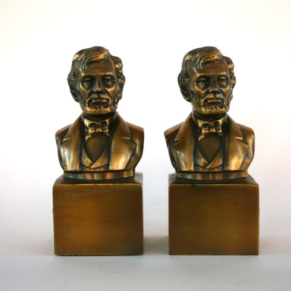 Abraham Lincoln Bookends Autumn Home Decor By Rhapsodyattic