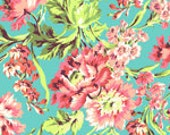 Love - Bliss Bouquet in Teal AB50 by Amy Butler- Quilt Fabric - 1/2 Yd BTY