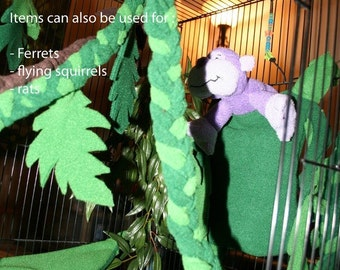 JUNGLE SET : Fleece play-set for Sugar Gliders and other pets