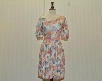 Vintage  Floral Dress by Lanz Petite