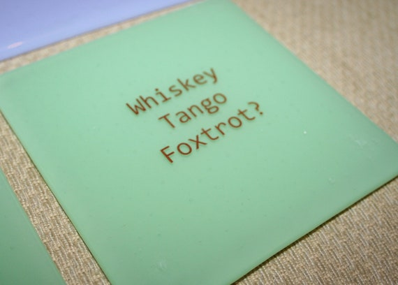 WTF OMG Coasters - Made to order in any colour