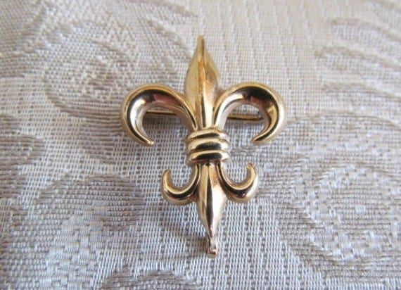 Antique Fleur De Lis Watch Pin Brooch c.1915