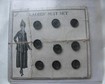Edwardian Ladies Buttons Original Card