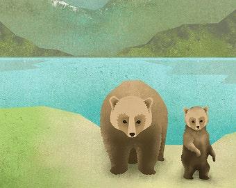 One Cub Print