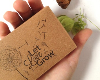 Reserved// Wedding Favor Seed Kit. Sweet Pea seed // Set of 10 Eco-Friendly Favors with custom stamp