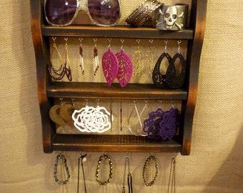 Upcycled Jewelry Organizing Display (Black Rack)