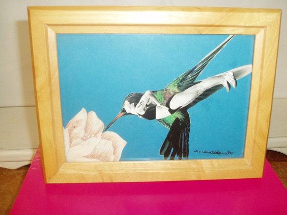 Hummingbird Woman Morphing Collage female runner