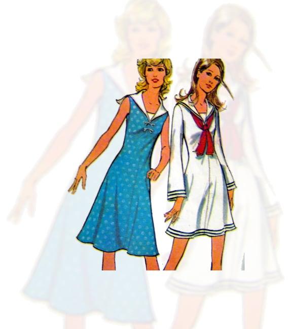 Knit Tunic Dress Pants Shorts Sewing 70s Pattern McCalls 3007 Vintage  B 34