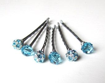 Something Blue Wedding Hair Pin Mixed Set