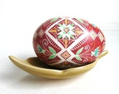 Pysanka,Ukrainian Easter egg, batik decorated chicken egg by artist Katya Trischuk,real egg shell handcrafted,Easter tree decorations,eggs