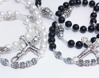 Personalized Bride & Groom or His/Hers Rosary set