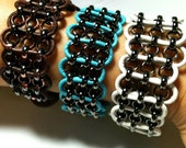 Leather Wrapped Chain Bracelets by 2CarasCreations