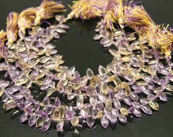10 pcs - ametrine faceted marquise 6 by 11mm
