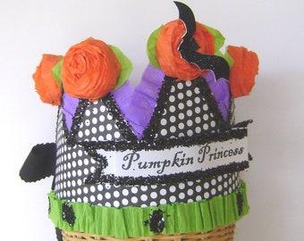 Halloween crown - Hat-  Pumpkin Princess -or customize