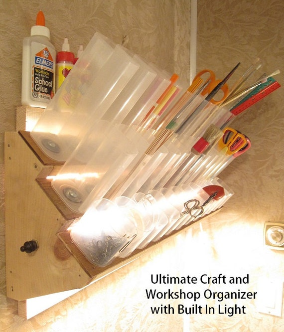 Ultimate Craft and Workshop Organizer with Built In Lights PDF How-To Pattern and Tutorial