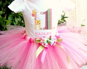 Pink Tutu  and Bow Outfit-Perfect for Birthdays 1,2,3,4,5 Birthday Pink  Birthday Outfit