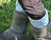 PATTERN Kid's Cabled Boot Cuffs PATTERN ONLY