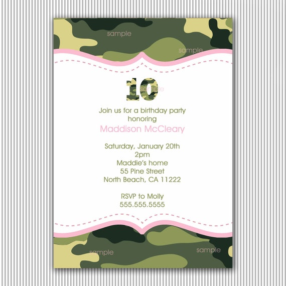 items similar to pink and green camo birthday party