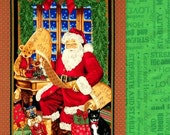 Panel Quilt Kit Easy Christmas Santa Wall Quilt Kit Complete Checking It Twice