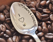 I Love You to Infinity & Beyond... (TM) - Hand Stamped Vintage Coffee Spoon for Coffee Lovers