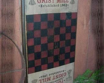 Pea Ridge Checkerboard, Game Board,Primitive, Folk Art, Wall Art