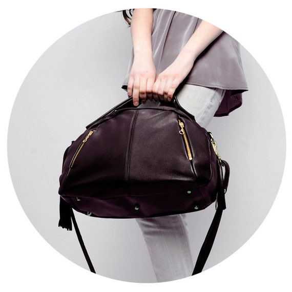Leather Bag - OPELLE Botanist Bag - Spring 2011 in Pebbled Leather