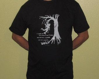 Tree Shirt - pardon me, thou bleeding piece of earth, I am meek and gentle w/ these butchers,Large,  Unisex Tshirt - Shakespeare Art