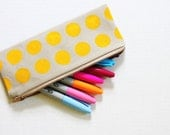 Buttercup pencil case/sunglasses case/zipper pouch