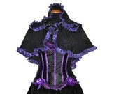 Made to order  fantasy victorian renaissance gothic vampire hood, cape custom made