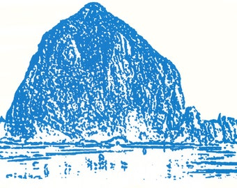 HAYSTACK ROCK Silkscreened Limited Edition ORIGINAL Signed Print