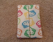Tissue Pouch - Little Kitty on white