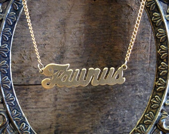 Taurus Astrological Sign Necklace