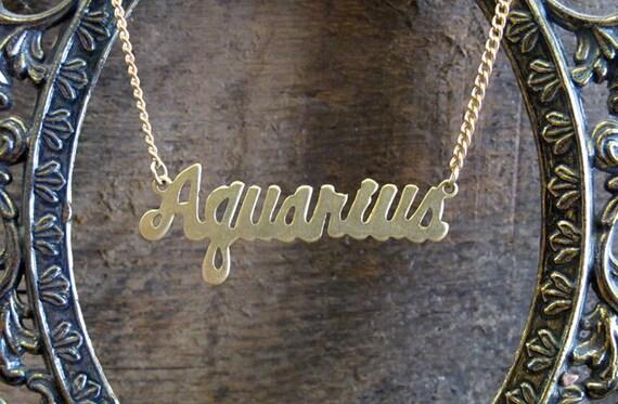 Aquarius Astrological Sign Necklace