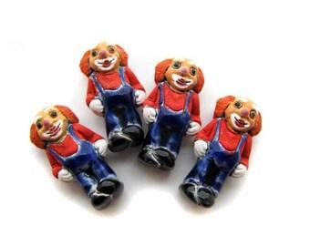 4 Large Clown Beads